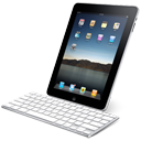 iPad with keyboard Icon