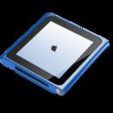128x128px size png icon of iPod nano blue