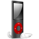 128x128px size png icon of iPod Nano black and red off