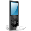 128x128px size png icon of iPod Nano black on