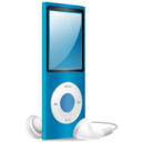 iPod Nano blue on Icon