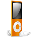 iPod Nano orange off Icon