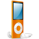 iPod Nano orange on Icon