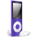 iPod Nano purple off Icon
