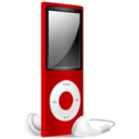 iPod Nano red off Icon
