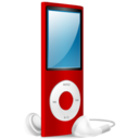 iPod Nano red on Icon
