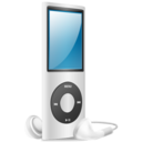 128x128px size png icon of iPod Nano silver on