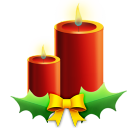 128x128px size png icon of Candles with ribbon
