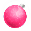 128x128px size png icon of Christmas ball pink