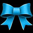 128x128px size png icon of Ribbon Blue Pattern