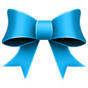 Ribbon Blue Icon