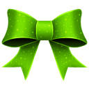128x128px size png icon of Ribbon Green Pattern