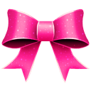 128x128px size png icon of Ribbon Pink Pattern