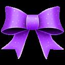 128x128px size png icon of Ribbon Purple Pattern