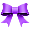 128x128px size png icon of Ribbon Purple