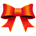 128x128px size png icon of Ribbon Red