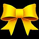 128x128px size png icon of Ribbon Yellow Pattern