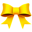 128x128px size png icon of Ribbon Yellow