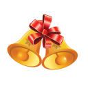 128x128px size png icon of Christmas Bells