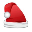 128x128px size png icon of Christmas Santa Cap