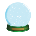 128x128px size png icon of Christmas Snow Globe