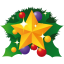 128x128px size png icon of christmas star