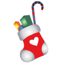 128x128px size png icon of christmas stocking