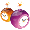 128x128px size png icon of clocks