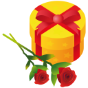 128x128px size png icon of gift rose