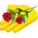 128x128px size png icon of hand rose