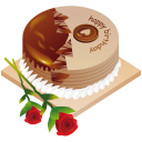 128x128px size png icon of happy birthday cake