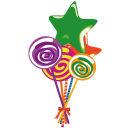 128x128px size png icon of lollies