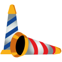 128x128px size png icon of party hat