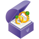 128x128px size png icon of ring