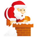128x128px size png icon of santa chimney
