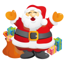 128x128px size png icon of santa gifts