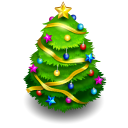 128x128px size png icon of chrismas tree