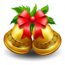128x128px size png icon of christmas bell