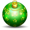 128x128px size png icon of christmas tree ball 2