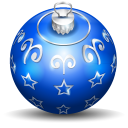 128x128px size png icon of christmas tree ball 3