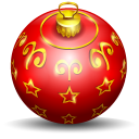 128x128px size png icon of christmas tree ball