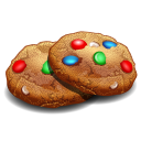 128x128px size png icon of cookies