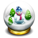 128x128px size png icon of glass snow ball