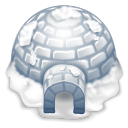 128x128px size png icon of igloo
