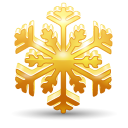 128x128px size png icon of snowflake 2