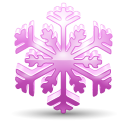 128x128px size png icon of snowflake 3