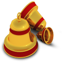 128x128px size png icon of Xmas Bells