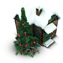 128x128px size png icon of Xmas House