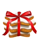 128x128px size png icon of gingerbread stars