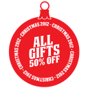 128x128px size png icon of All gifts 50 percent off